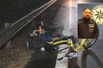 Motorkář po noční nehodě jen chroptěl a čekal na smrt: Spása měla tvář dvou policistů