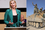 """Ivanku Trumpovou """"ohrožovaly"""" dotazy na Sýrii. První dceru narychlo odvedla ochranka"""