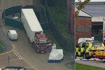 Britská policie pustila trojici zadrženou kvůli desítkám mrtvých v kamionu!
