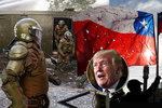 23 mrtvých při bouřích v Chile: Trump viní zahraniční síly, Moskva si rýpla do USA
