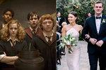 Hvězda Harryho Pottera slavila svatbu! Se synem zakladatele Playboye