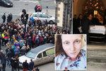 Poslední rozloučení s Lucií Eckertovou: Plný kostel se loučil s cvičitelkou, kterou zabila rakovina