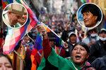 """""""Pomozte,"""" žádá exprezident z exilu papeže. Násilí v Bolívii neustává"""