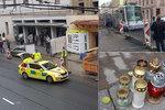 Past jako Brno: Staveniště zabralo chodník, lidé musí do silnice: Mladíka zabila tramvaj!