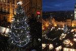 """VIDEO: Vánoční strom na """"Staromáku"""" se slavnostně rozzářil! Tentokrát napoprvé"""