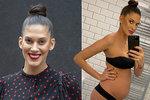 Konečně má břicho! Modelka Vignerová v 7. měsíci odhalila křivky