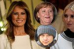Trumpovy ženy ostrouhaly: Melania chybí mezi vlivnými, Ivanka propadla, vede zase Merkelová