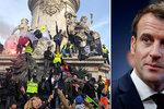 Důchodová reforma vyhnala do ulic statisíce Francouzů. Policie v Paříži použila slzný plyn