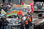 Cesta na Vánoce se mění v peklo: Stávka ochromila ve Francii i železnici, polovina vlaků nejezdí