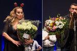 Monika Absolonová v Lucerně: Vášnivá líbačka s hokejistou přímo na pódiu!