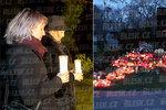 Gottovy ženy tajně u jeho hrobu: Ivana zapálila Karlovi svíčku jako první