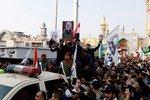 """""""Smrt Americe, smrt Izraeli"""". Rozzuření Iráčané vyšli po Trumpově úderu do ulic"""