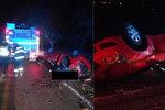 Řidička (20) dostala smyk a narazila do stromu: Při tragické nehodě zemřel osmnáctiletý mladík