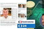 Po útoku na Babiše ČT nasadila právníky. Premiér zbohatl i díky bitcoinům, tvrdil web