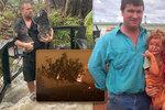 Po ohnivém pekle zachraňují koaly z vody. Do spálené Austrálie dorazily lijáky