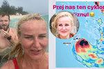 Nebezpečná koupačka Venduly Pizingerové: Nezastraší ji ani děsivý cyklon!