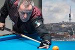 """Kulečníková legenda Dick Jaspers (54) v Praze. """"Být nejlepším je břemeno a zodpovědnost,"""" říká"""