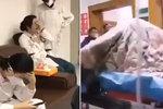 Nekontrolovatelný třes: Šokující video ukazuje utrpení nemocného koronavirem