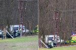 Elektrikáře u Prahy zabil proud ze stožáru: Kolegové se mu snažili zachránit život