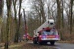 U Olomouce zemřela řidička (†45): Srazila se s hasiči, kteří jeli na pomoc po vichru