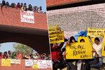 Chlípný útok na dívčí škole: Osahávání od hordy mužů nezastavila ani policie