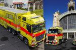 Inspektor nově bliká zeleně! Pražská záchranka dostala nové vozy, zajistí až 12 pacientů