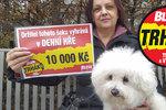 Štěstí Blesku spadlo dvakrát do stejného místa! Monika v Trháku opět získala »desítku«!