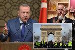 Erdogan bude jednat s Putinem i Merkelovou o Sýrii. Macron se předtím střetl s kritikem