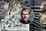 Rozpitý svět precizní fantazie: Josef Zlamal (35) v Praze představuje svou nejnovější tvorbu