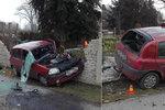 Děsivá nehoda na Olomoucku: Rychlík smetl auto s dětmi!