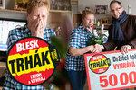 Marie (72) z Opavy má z DENNÍ HRY Trháku 50 tisíc: Štěstím jsem nemohla mluvit!