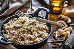 Pravé italské houbové rizoto: Recept plus tipy, jakou použít rýži