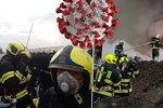 Nejtěžší období v historii pražských hasičů: Nakažených je už 31, dalších 100 je v karanténě