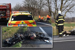 Nehodu dvou motorkářů u Nymburka šetří znalci: Nikdo jim nechtěl pomoci, tvrdí svědek