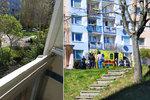 Sebevražda v Praze 11. Muže od krve oživovala kolemjdoucí lékařka a strážník