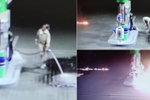 """Šokující video pyromanky na čerpací stanici: Rozlila desítky litrů benzinu a """"škrtla zápalkou""""!"""