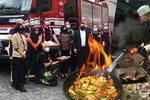 Místo hašení požárů »huba plná ohně«. Pražské hasiče podarovala thajská velvyslankyně ostrými pokrmy