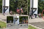 Starostka Sokolova nechala odnést americkou vlajku z piety. Pak ji vrátila a sype si popel na hlavu