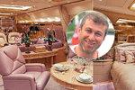 Létající palác oligarchy Abramoviče: Luxus, zlato, místnost pro hostiny i bezpečnostní systémy