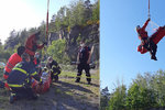 Dívka spadla v lomu z 15 metrů: Zachraňoval ji vrtulník!