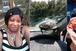 Spolujezdce málem sťala letící želva: Zůstala zaseknutá v předním skle auta!