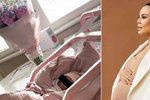 Monika Bagárová se poprvé ozvala z porodnice: Krásná fotka spící dcerky a slova dojetí!
