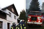 Bouřka v Krkonoších způsobila požár chaty: Škoda půl milionu