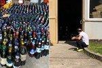 Stovky litrů vína do Irska nedoputují: Alkohol zadrželi před Komořanským tunelem celníci