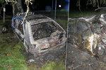 Hořící auto skrývalo děsivé tajemství: Policie uvnitř našla lidské tělo!