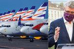 Krach Smartwings? Ztrátu 1,2 miliardy pro Česko vyčíslil Havlíček, zmínil i kolaps
