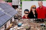 Rodina Petra a jeho dětí při povodních přišla o mámu Hanku: Lidé pro ně vyhlásili sbírku