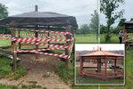 Útok vandala na altán v Řepích: Zasadil mu několik úderů sekyrou. Přišel ho cíleně zničit, říká místostarosta