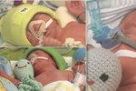 Zoe, Benedikt, Vincent: Maminka před porodem trojčátek ještě okopávala záhonky