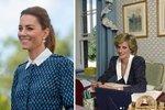 Kate Middleton uctila památku princezny Diany výběrem šatů. Kdo další je oblékl?